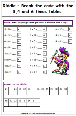 Math Riddle Worksheets Free - Educational Math Activities
